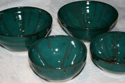 Sold - Green bowl set.